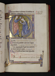 The Anointing Of David, In A Historiated Initial, In 'The Grandisson Psalter'